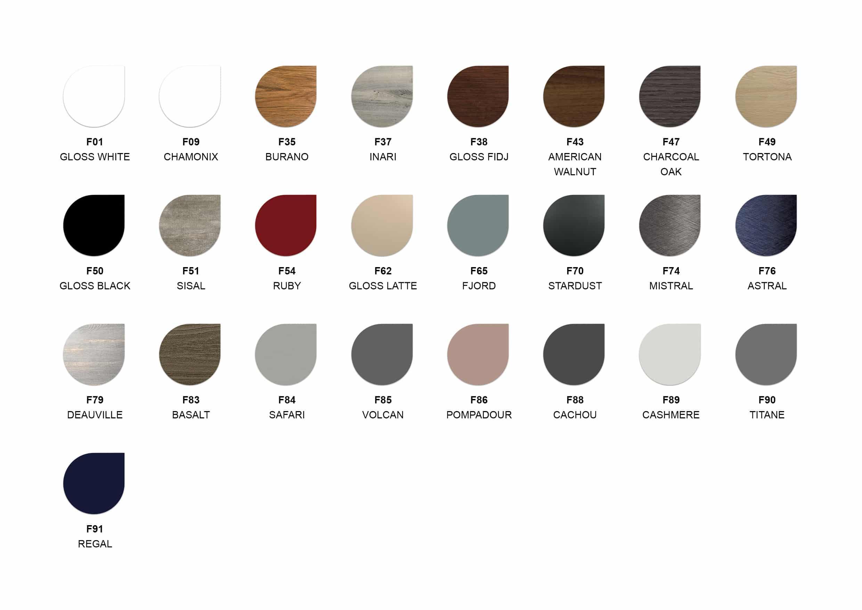 Ambiance Bain Joya Mirror Colour Chart