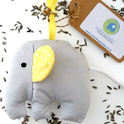mobilampshades mellow yellow elephant lavender bag